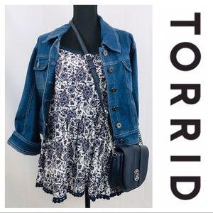 Torrid 💫 Gorgeous Paisley Boho Babydoll Tank